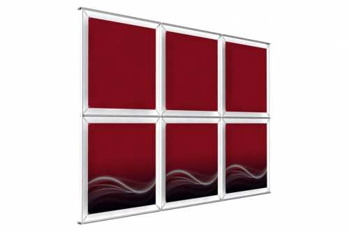 "Wall mounted Image Wall for 24"" wide posters (3x2)"