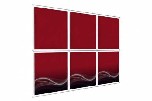 "Wall mounted Image Wall for 48"" wide posters (3x2)"