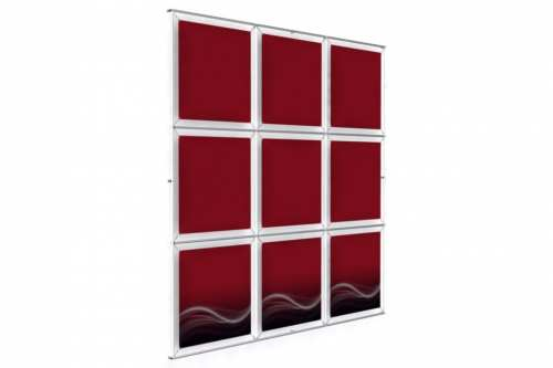 "Wall mounted Image Wall for 24"" wide posters (3x3)"