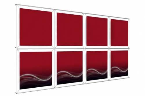 """Mur d'images Mural pour posters de 24"""" (4x2)"""