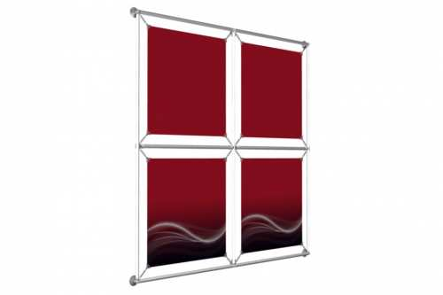 "Window Image Wall to hold 18"" wide posters (2x2)"