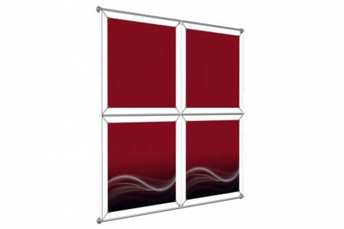 "Window Image Wall to hold 24"" wide posters (2x2)"