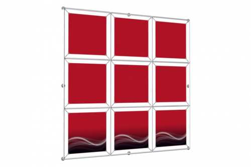 "Window Image Wall to hold 18"" wide posters (3x3)"