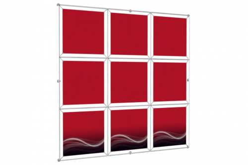 "Window Image Wall to hold 24"" wide posters (3x3)"