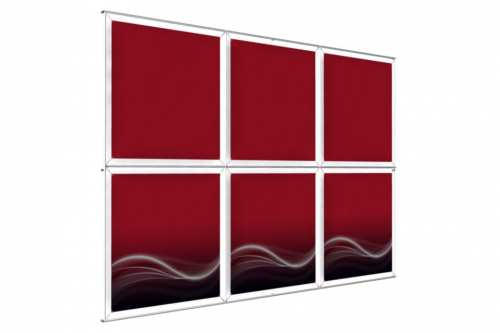 "Wall mounted Image Wall for 36"" wide posters (3x2)"
