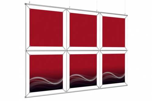 """Mur d'images Suspendu pour posters de 18"""" (3x2)"""