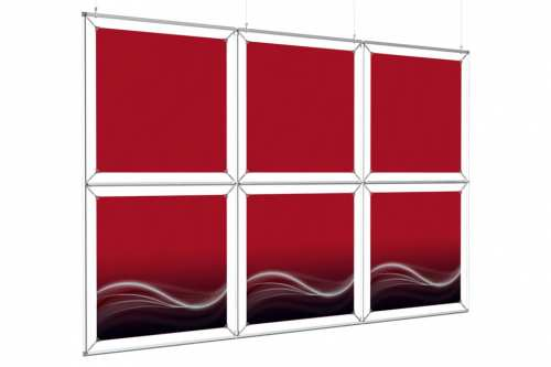"""Hanging Image Wall to hold 24"""" wide posters (3x2)"""