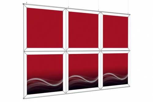 """Mur d'images Suspendu  pour posters de 24""""(3x2)"""