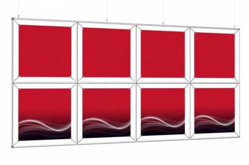 """Mur d'images Suspendu pour posters de 18"""" (4x2)"""