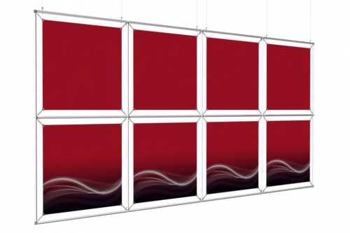 """Mur d'images Suspendu  pour posters de 24"""" (4x2)"""