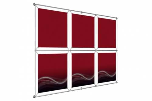 "Window Image Wall to hold 24"" wide posters (3x2)"