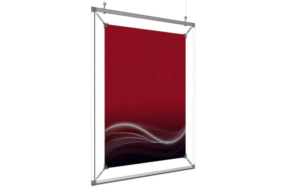 hanging poster frame to display a 17x22� poster afix