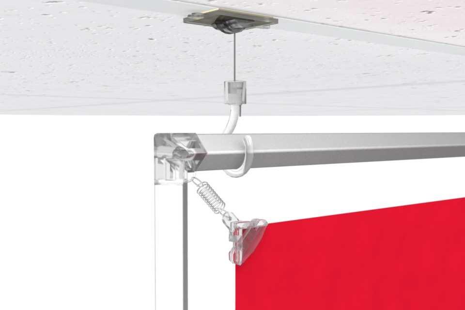 Cadre suspendu pour un poster de 8x10 for Accessoire plafond suspendu