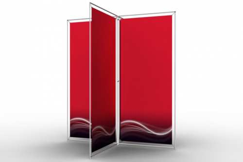 """X-Shape Stand to display four 36"""" posters"""