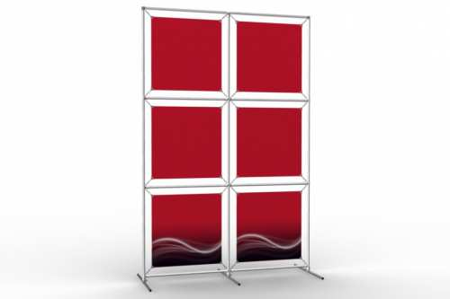 """Image Wall to display 18"""" wide posters (2x3)"""