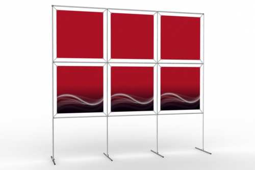 """Image Wall to display 24"""" wide posters (3x2)"""