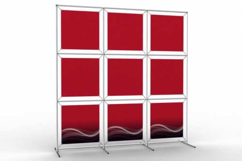 """Image Wall to display 18"""" wide posters (3x3)"""