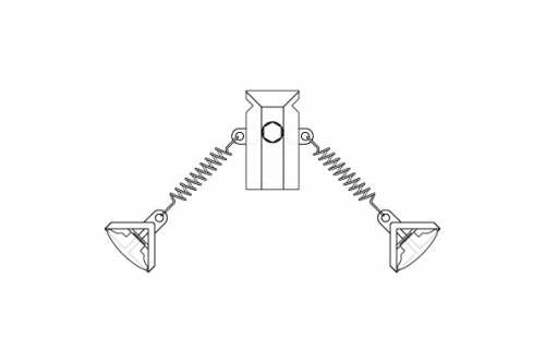 Double T-Clip with 2 Heavy Duty Springs & Poster Clips