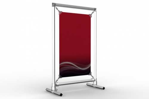 """Upright Counter Stand to display an 8.5x14"""" poster"""