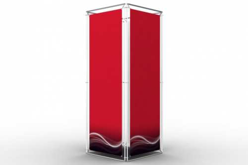 """Square Tower to display 24x72"""" posters (4x1)"""