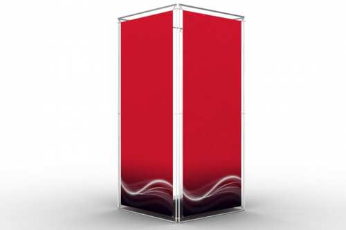 """Square Tower to display 36x84"""" posters (4x1)"""
