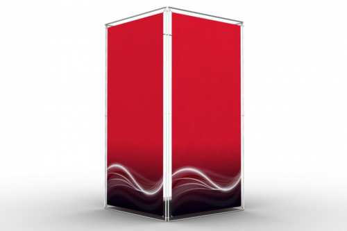 """Square Tower to display 48x96"""" posters (4x1)"""
