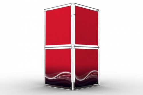 """Square Tower to display 36"""" wide posters (4x2)"""