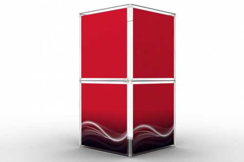"""Square Tower to display 48"""" wide posters (4x2)"""