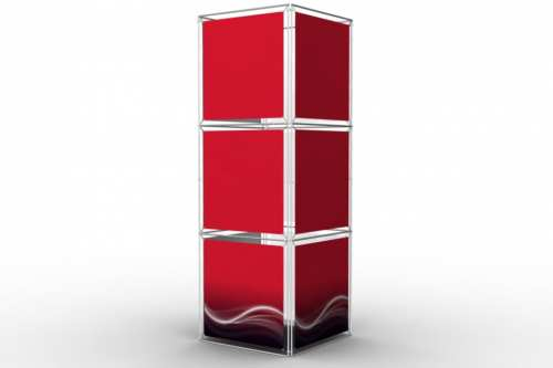 """Square Tower to display 36"""" wide posters (4x3)"""