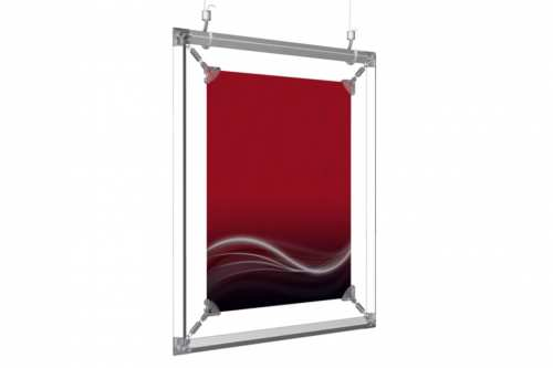 """Hanging Poster Frame to display an 8.5x11"""" poster"""