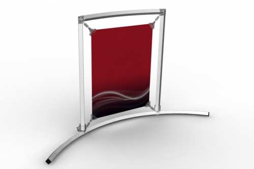 """Curved Counter Frame to display an 8.5x11"""" poster"""