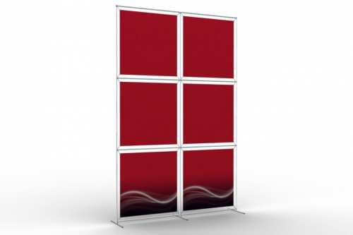 """Image Wall to display 36"""" wide posters (2x3)"""