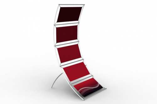"""Curved Stand to display 24"""" wide posters (1x5)"""