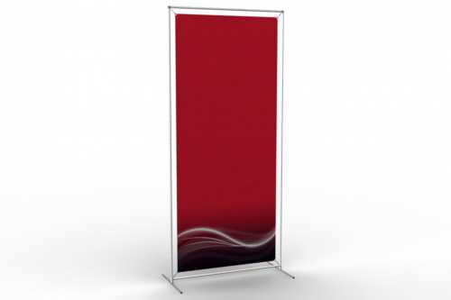 """90"""" high Floor Stand to display a 36"""" wide poster"""